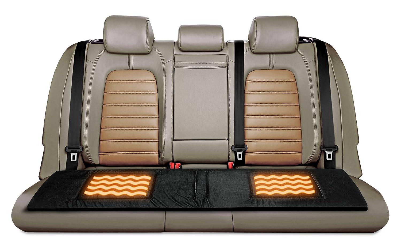 Relaxzen Heated Bench Seat Cushion Vehicle Automotive Suv