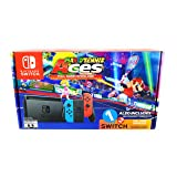 Nintendo Switch System Console , Neon Blue & Neon Red with Mario Tennis Aces & 1-2-Switch (Color: Neon Blue and Neo Red)