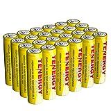 Tenergy Solla Rechargeable NiMH AA Battery, 1000mAh Solar Batteries for Solar Garden Lights, Anti-Leak, Outdoor Durability, 5+ Years Performance, 24 PCS, UL Certified (Tamaño: 24 Pcs)