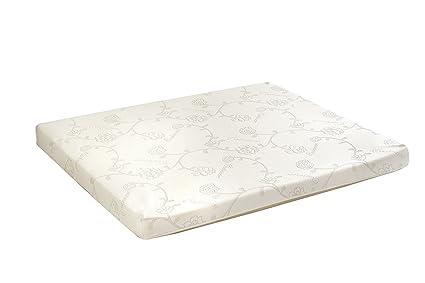 L'aventure intérieure produits de luxe Canapé en matelas en mousse haute densité, Polyester, Blanc, complet, 72L x 52W x 4.5h