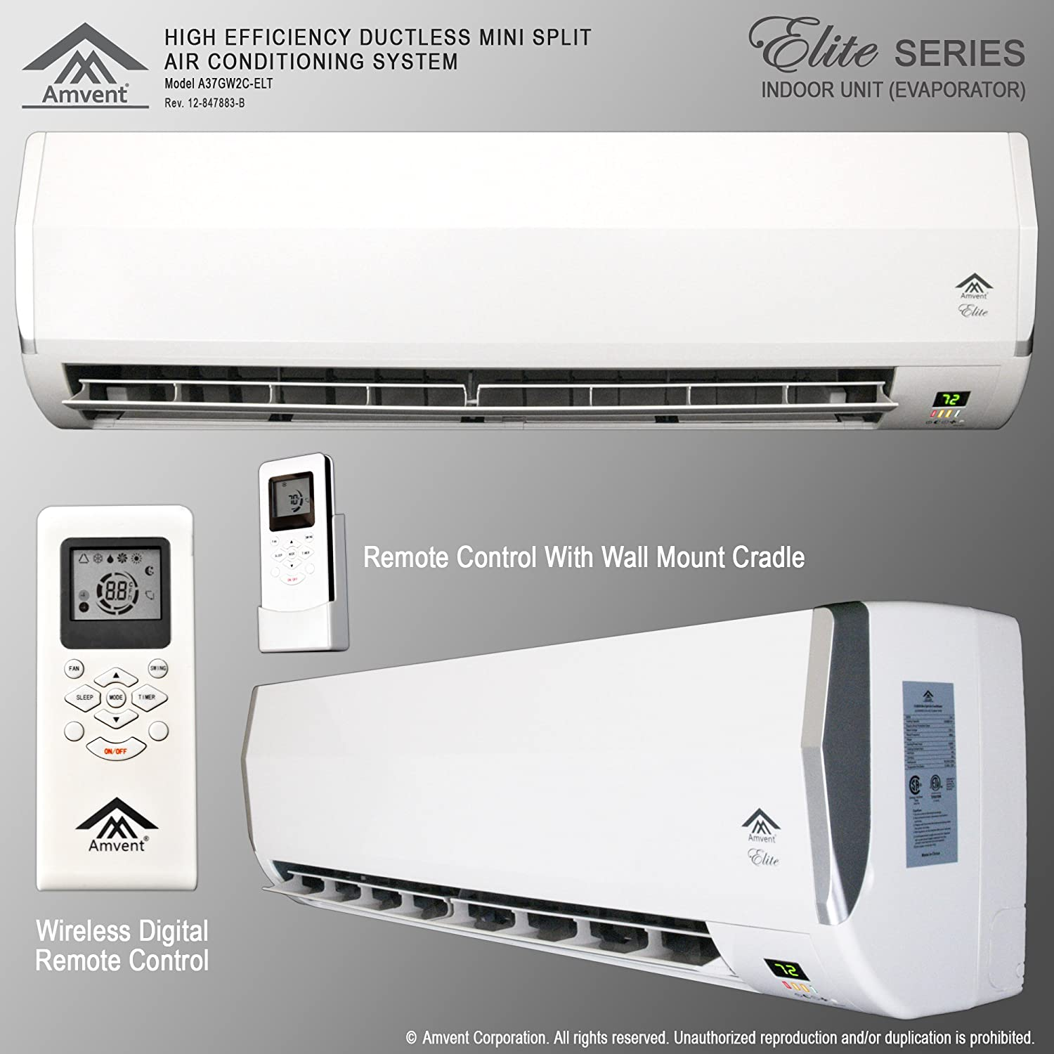 Flat Wall Mount Air Conditioners for Pinterest #515D6A