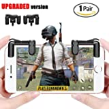 Mobile Game Controller Newest Version Sensitive Shoot and Aim Buttons L1R1 for PUBG/Knives Out/Rules of Survival PUBG Mobile Game Joystick Cell Phone Game Controller for Android IOS 1 Pair