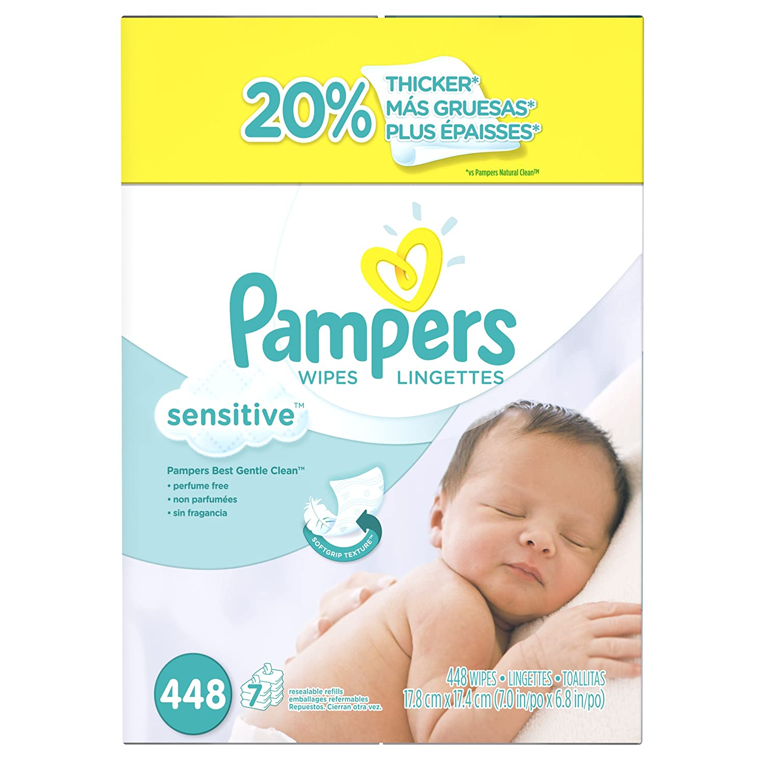 Details about pampers wipes 504 count box softcare 7x baby diapers