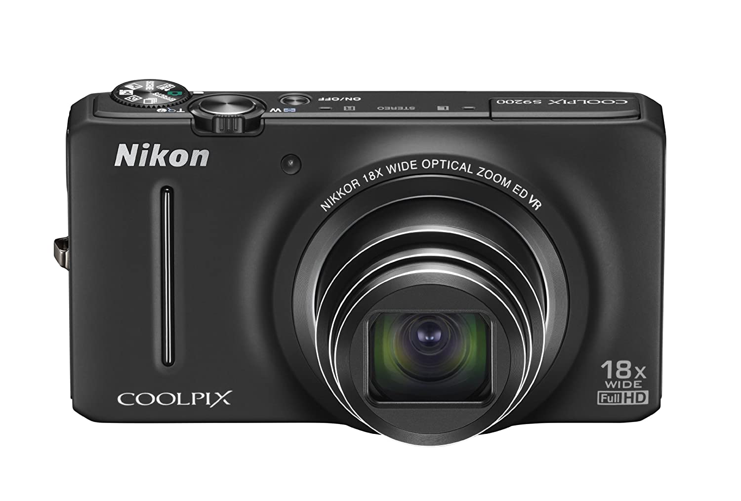 Nikon COOLPIX S9200 16 MP CMOS Digital Camera with 18x Zoom NIKKOR ED Glass Lens and Full HD 1080p Video ($123.45)