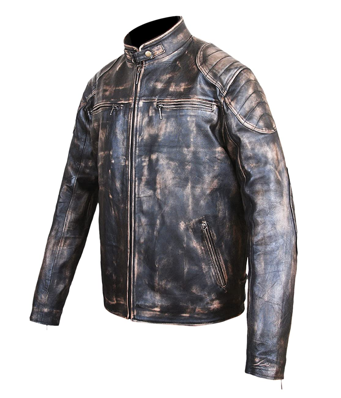 Antique Black Men's Vintage Distressed Retro Motorcycle Biker Leather jacket - TOP SELLER 1