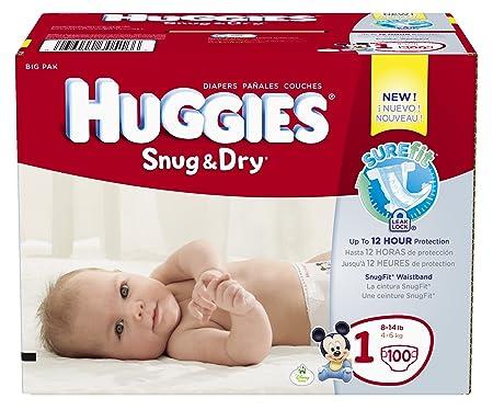 Amazon Hot Huggies Size 1 Snug Amp Dry Diapers 100 Count