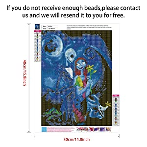 2 Pack 5D Full Drill Diamond Painting Kit, KISSBUTY DIY Diamond Rhinestone Painting Kits for Adults and Beginner Diamond Arts Craft Home Decor, 15.8 X 11.8 Inch (Blue Halloween Skull Jack) (Color: Blue Halloween Skull)