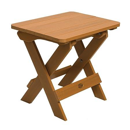 Highwood ADIRONDACK - Mesa auxiliar plegable de madera sintética eco-friendly, color teca