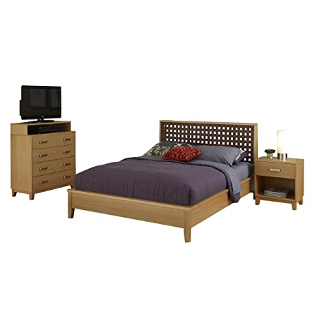 Home Styles 5517-5022 The Rave Queen Bed, Night Stand and Media Chest Set