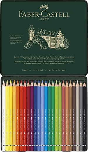 Faber-Castel FC117524 Albrecht Durer Artist Watercolor Pencils in A Tin (24 Pack), Assorted (Color: Multi)