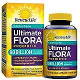 Renew Life Colon Care Probiotic, Ultimate Flora, 80 Billion, 60 Capsules