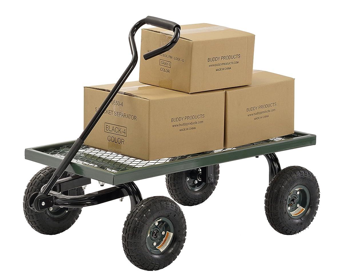 "Sandusky Lee FW Steel Crate Wagon, Green, 1000 lbs Load Capacity, 14-1/4"" Height, 38"" Length x 20"" Width"