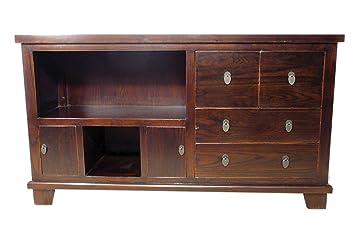 Massivholz Kommode, Sideboard, TV-Tisch mit Schubladen und Fächern
