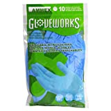 AMMEX - GWN10PK - Nitrile Gloves - Gloveworks - 10/pack, Disposable, Powder Free, 4 mil, Uni-size, Blue  (Case of 250)