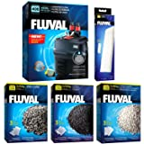 Fluval 406 A217 Filter w/Foam, Carbon, Ammonia Remover & Zeo-Carb 3mo