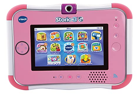 Vtech - 158855 - Jeu électronique - Tablette tactile Storio 3S - Rose - Sans Power Pack