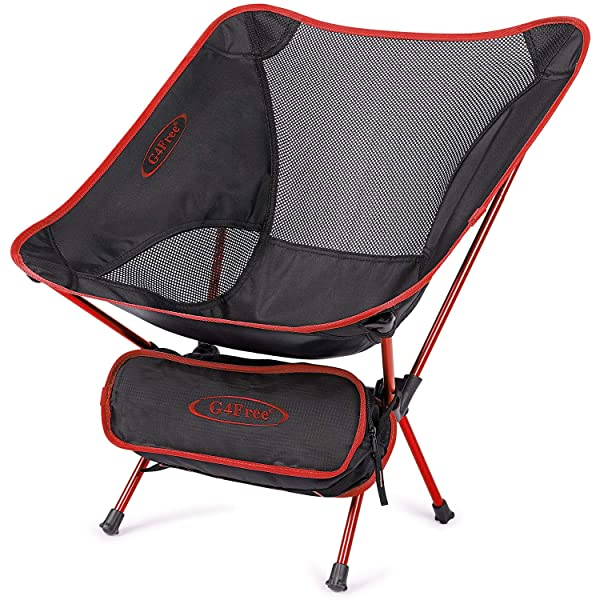 Portable Lightweight Folding Camping Chair Backpacking Picnic Outdoor Red