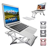 Muse Aluminum Transformable Laptop Stand, Convertible Laptop Riser Ventilated Notebook Holder Stand Compatible with MacBook Air/Pro Dell XPS HP Lenovo etc. for 10-17