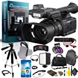 Panasonic AG-AC30 Full HD Camcorder with Touch Panel LCD Viewscreen and Built-in LED Light Pro Vlogger Combo (Color: Pro Kit, Tamaño: 1080p)