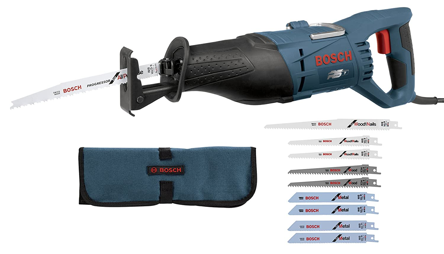 Bosch RS7 + RAP10PK 1-1/8-Inch 11-Amp Reciprocating Saw and 10-Piece General Purpose Blade Set $89.99