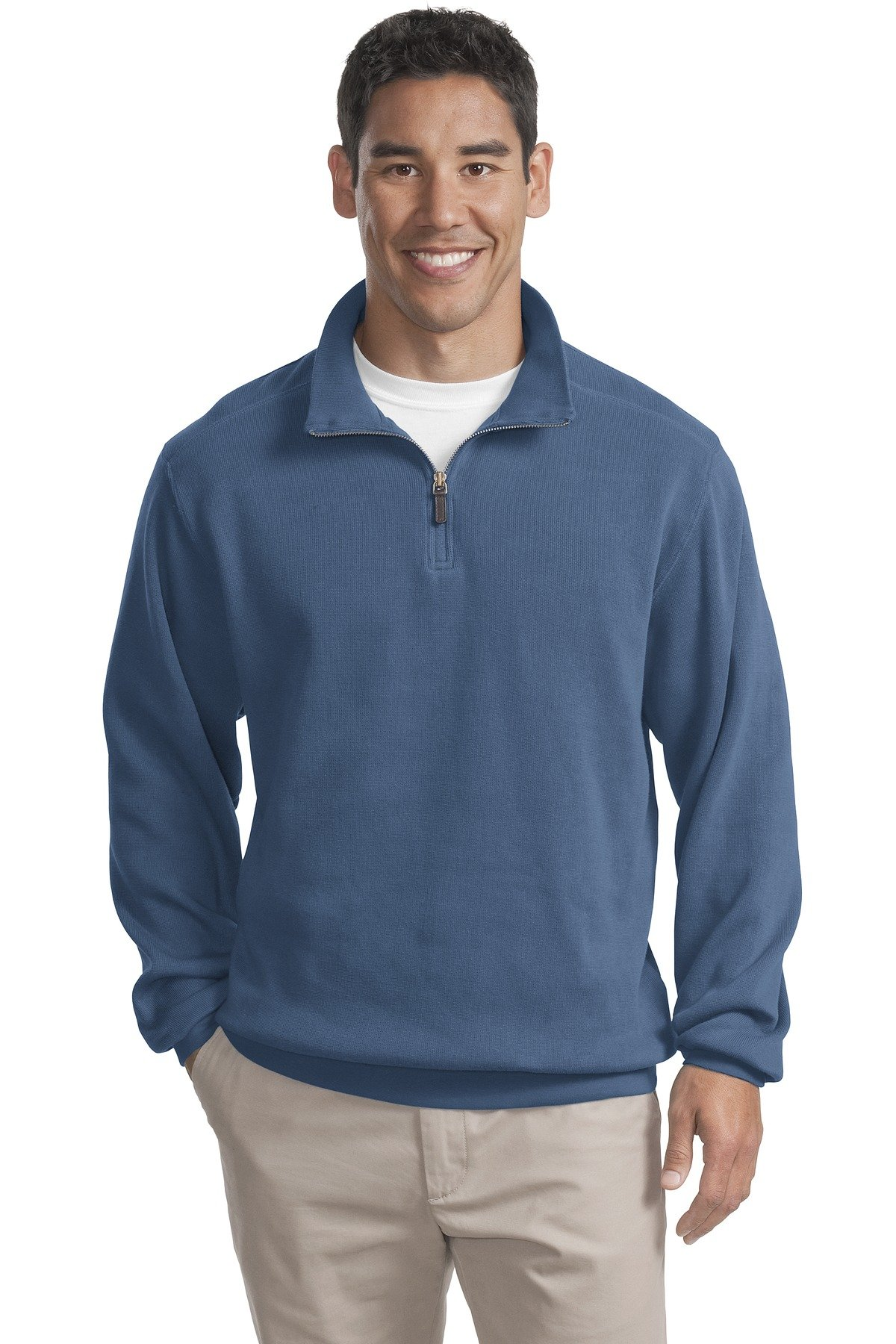Port Authority Zip Rib Flatback Sweatshirt