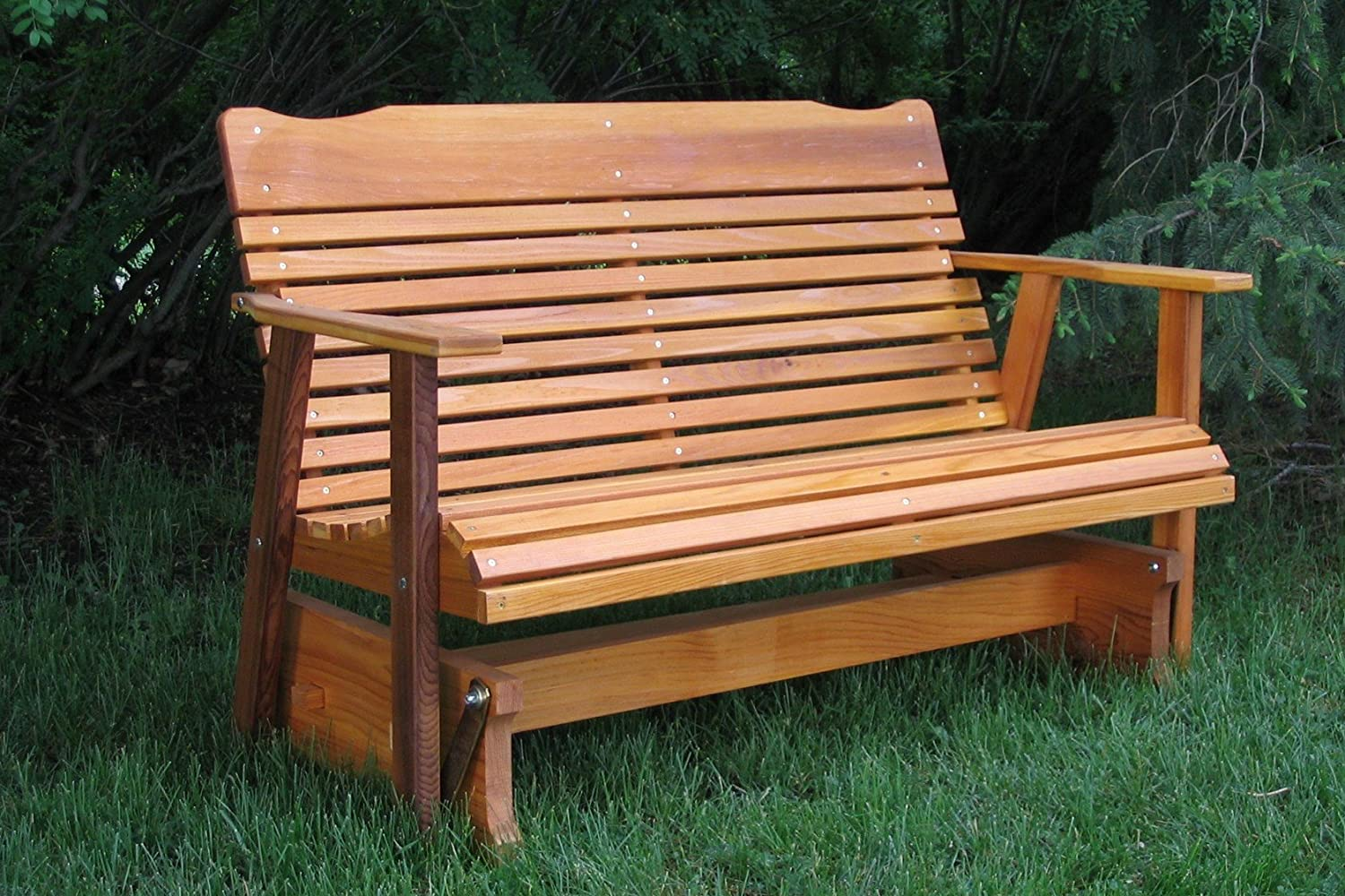 outdoor bench glider plans