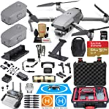 DJI Mavic 2 Pro Drone Quadcopter and Fly More Kit Combo Rugged Bundle Comes with 3 Batteries, Hasselblad Camera Gimbal, Rugged Carrying Case and Must Have Accessories (Tamaño: Mavic 2 PRO)