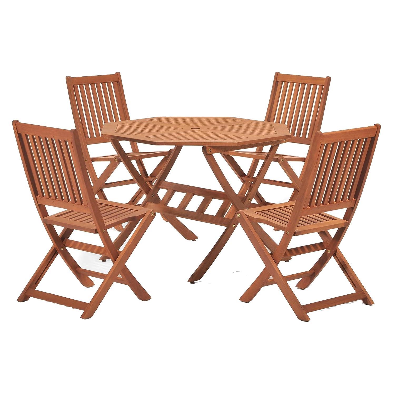 Eucalyptus wood garden furniture eucalyptus patio for Outdoor wood dining chairs