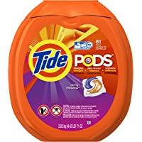 81-Count Tide PODS Spring Meadow HE Turbo Laundry Detergent Pacs