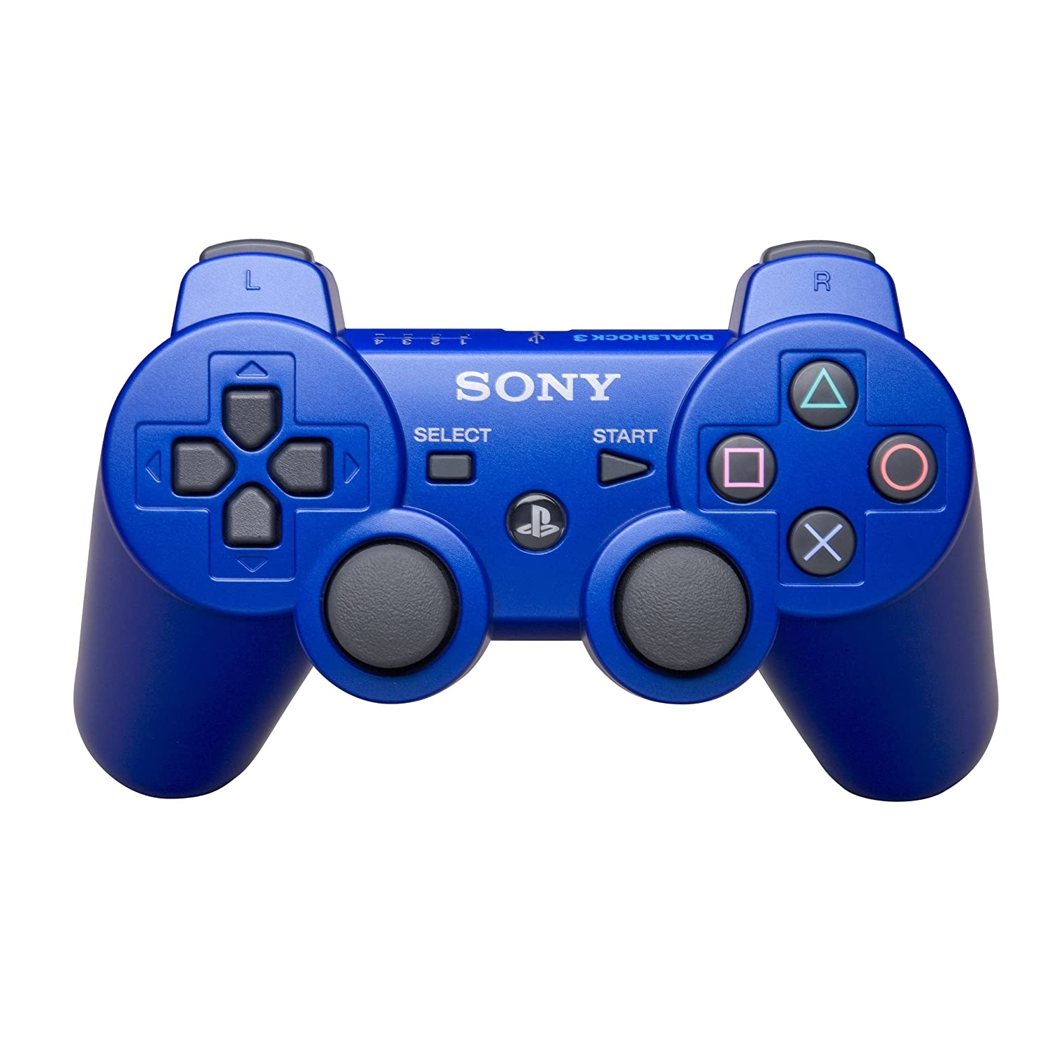 sony blue ps3 dualshock 3 wireless controller brand new ebay. Black Bedroom Furniture Sets. Home Design Ideas