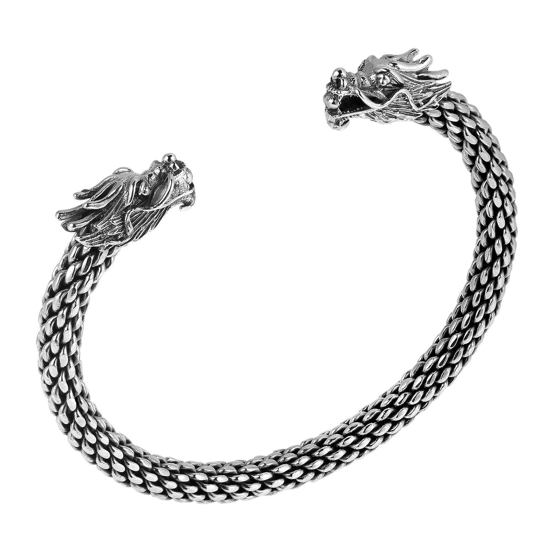 Damen Sterling Silber Armreif in Dragon Head-Design mit Alfred & Co. Schmuck Oxidierte günstig kaufen