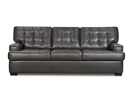 Simmons Upholstery 9590-03 Soho Granite Bonded Leather Sofa