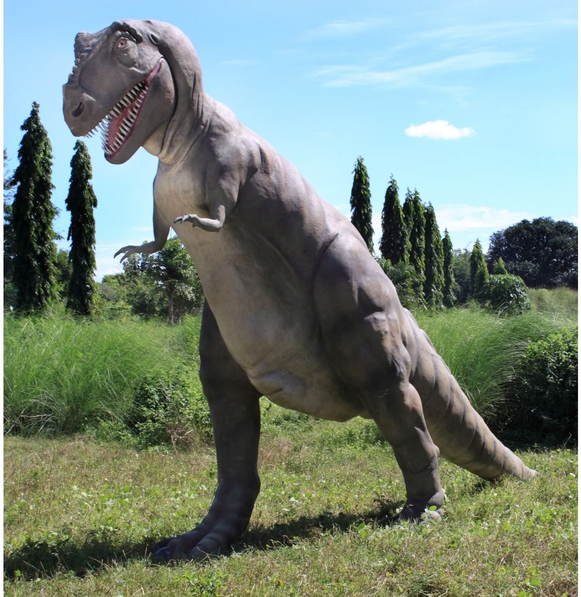 The Jurassic-Sized T-Rex Dinosaur Statue