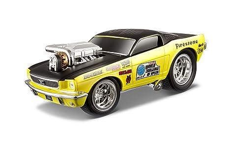 Maisto - 2043066 - Maquette De Voiture - Ford Mustang Gt '66 - Métallique Jaune - Echelle 1/24