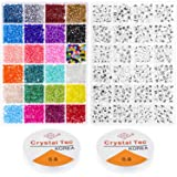 Beads for Bracelets, Cridoz 2800 Pcs 4mm Small Pony Beads with 1200 Pcs Alphabet Letter Beads for Jewelry Bracelets Making (Color: Assorted Colors, Tamaño: small)