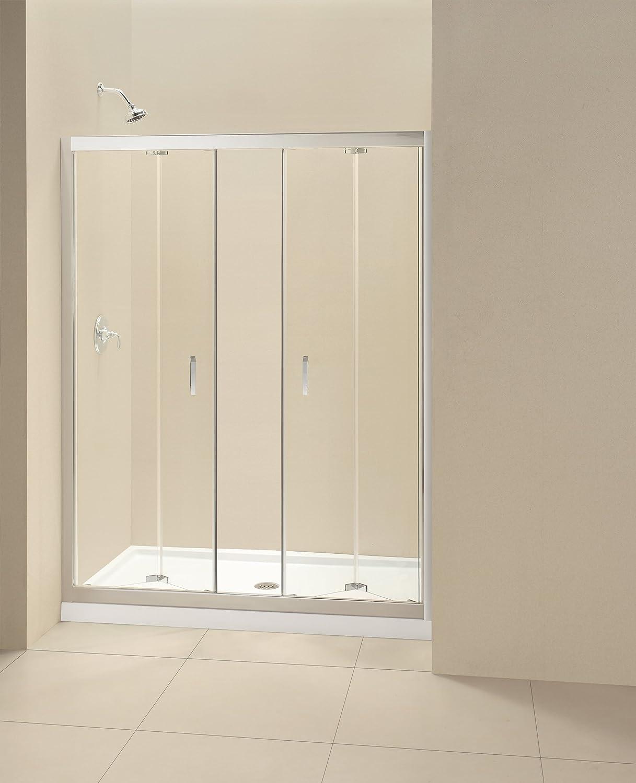 DreamLine SHDR-4558720-01 Butterfly Frameless Bi-Fold Shower Door, 58 to 59 1/2-Inch, Chrome Finish