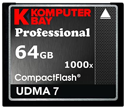 KOMPUTERBAY 64GB Professional COMPACT FLASH CARD CF 1000X 150MB/s Extreme Speed UDMA 7 RAW 64 GB at amazon