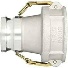 "Dixon 4030-DAVR-AL Aluminum Cam and Groove Hose Fitting, Vapor Recovery Coupler with Probe, 4"" Socket x 3"" Adapter"