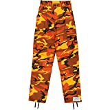 Army Universe Orange Camouflage Poly Cotton Cargo BDU Pants Camo Military Fatigues Pin (Medium Regular W 31-35 - I 29.5-32.5) (Color: Orange Camouflage, Tamaño: Medium Regular W 31-35 - I 29.5-32.5)