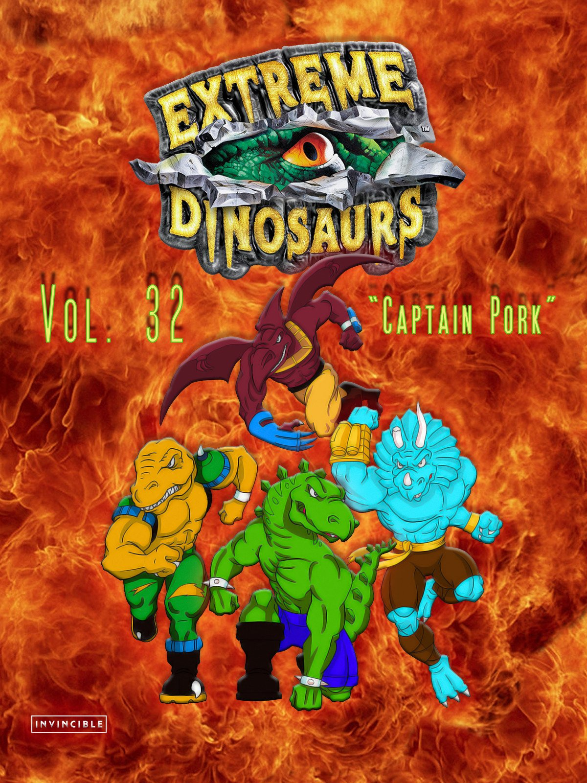 Extreme Dinosaurs Vol. 32Captain Pork