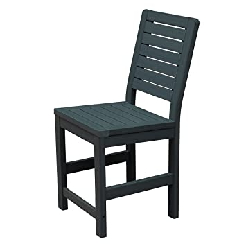 Highwood AD-CHCW1-BKE Weatherly Armless Counter Height Chair, Black