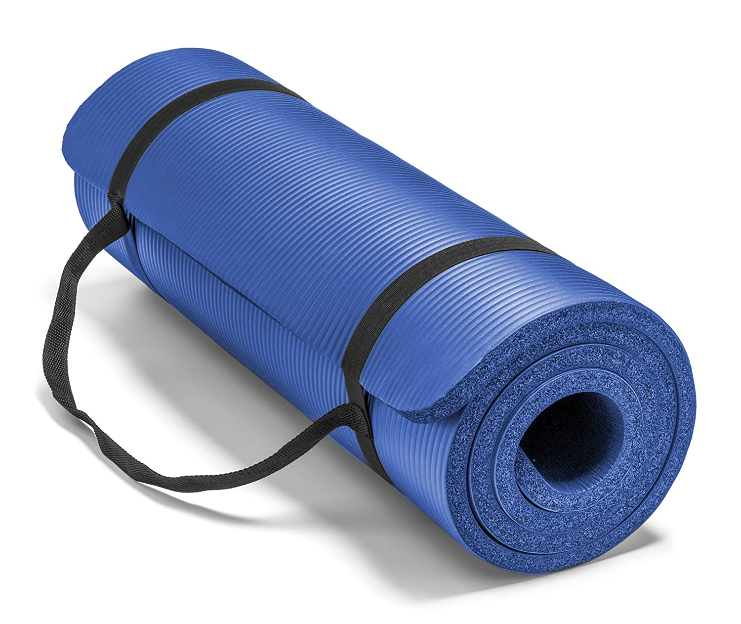 x dark pilates inches exercise fitness nbr blue mat yoga with foam and carry mats strap products thick for padded