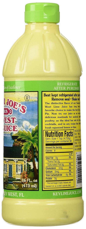 Nellie y Joe - Jugo s Key West Lima, 16 oz de plástico de abarrotes - Comida Gourmet