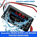 NEW LED Brake Pulse Flasher by Stop-Alert - Universal Speed Light Strobe Controller Module Relay, LATEST GENERATION Tail Light & Stop bulbs. for Cars, Trucks, Motorcycles - 24 watts - for LEDs only (Color: Black, Tamaño: LED Brake Pulse 24 watts)