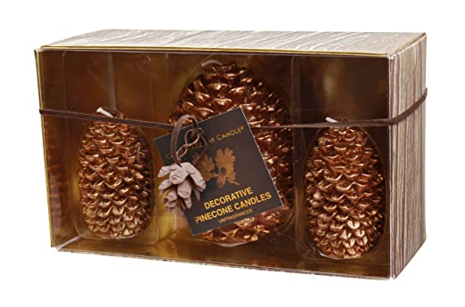 Copper Metallic Holiday Pine Cone 3-Piece Candle Gift Set by Chesapeake Bay Candle