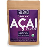 Organic ACAI Powder (Freeze-Dried) - 4oz Resealable Bag - 100% Raw Antioxidant Superfood Berry From Brazil - by Feel Good Organics (Tamaño: 4 Ounce Value Size (113g))