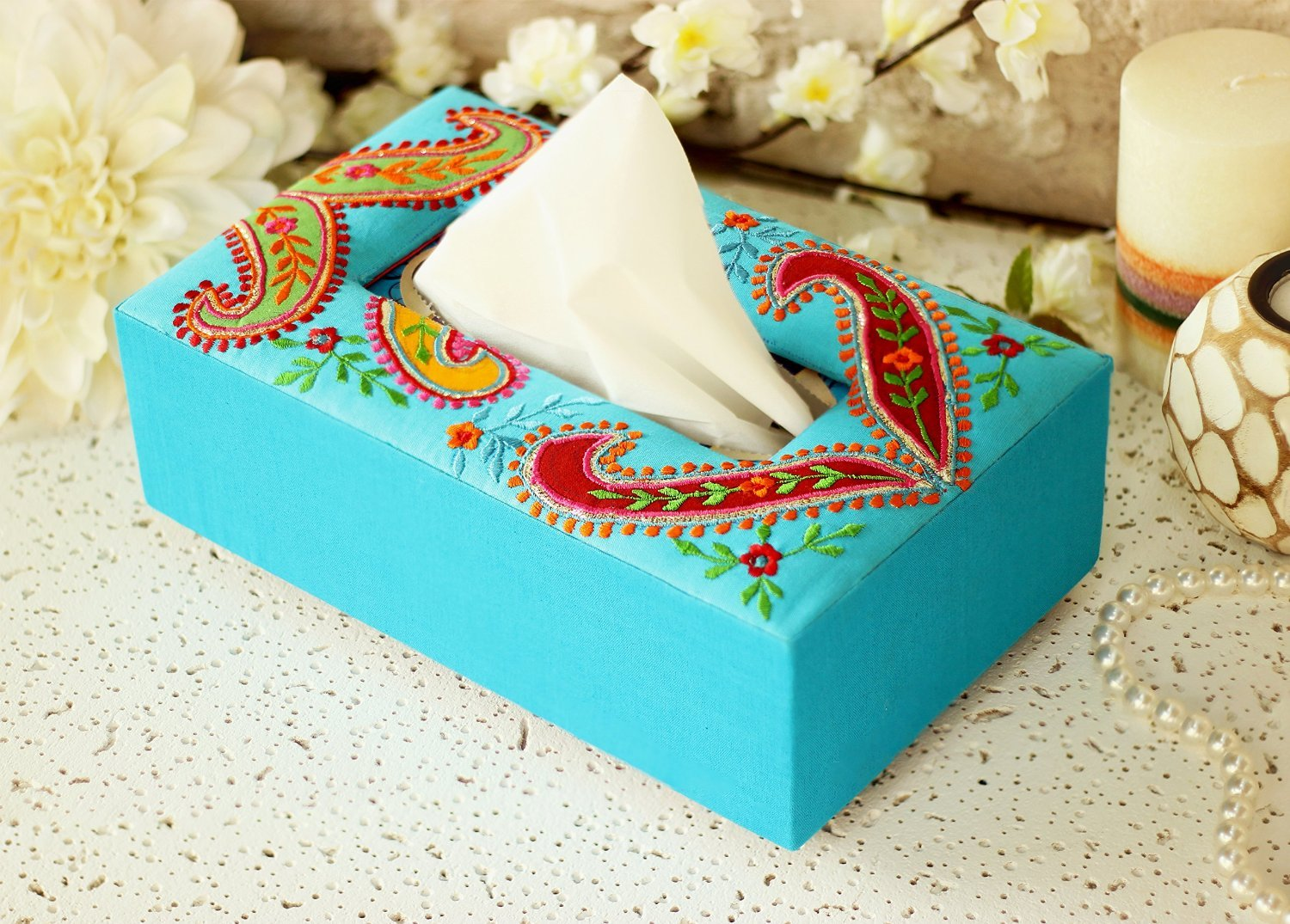 Christmas Gifts Trendy Paisley Printed Tissue Box