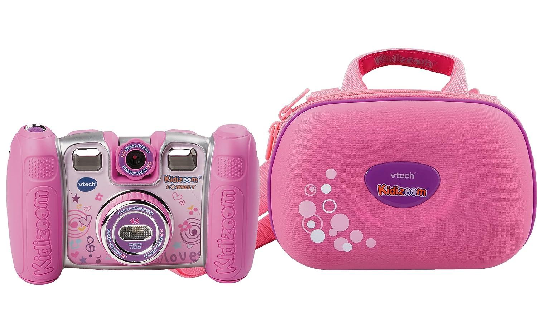 VTech 80-140894 – Kidizoom Connect inklusive Tragetasche, pink als Geschenk