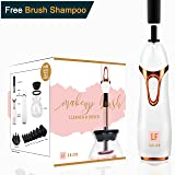 Makeup Brush Cleaner Spinner - Automatic Electronic Cleaner and Dryer Includes Free Makeup Brush Cleaner Solution | Spinning Electric Makeup Brush Cleaner and Dryer Machine by LF Salon (Color: White)