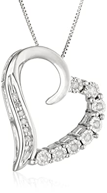 Valentines day white gold heart pendant diamond necklaces diamond heart pendant necklace in 10k white gold featuring box chain and spring ring clasp chain thickness 39mm all our diamond suppliers confirm that mozeypictures Gallery